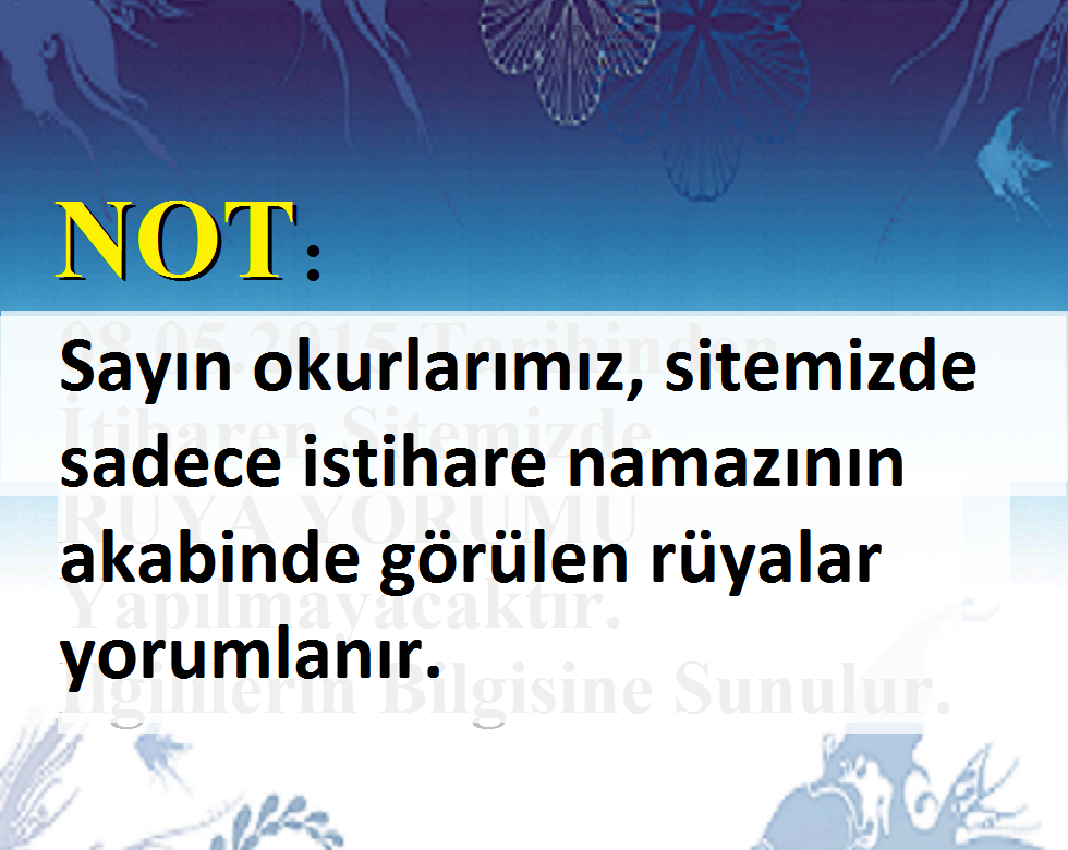 Rüya Tabiri Yorumları Islam Dergisi